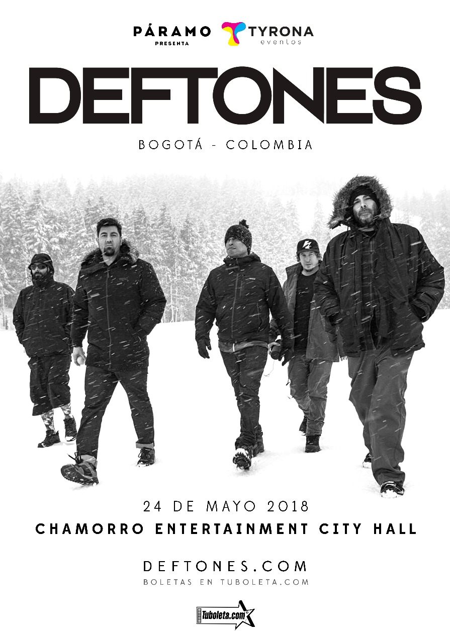 Deftones regresa a Colombia.