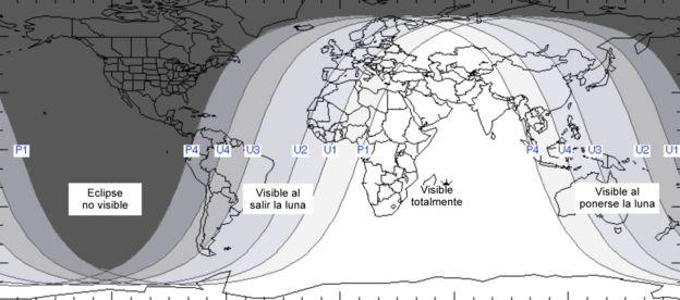 Horarios eclipse lunar julio 2018 Colombia