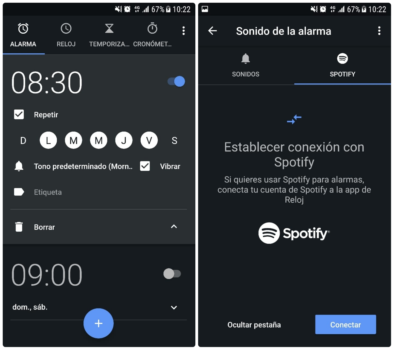 Alarma con Música Spotify