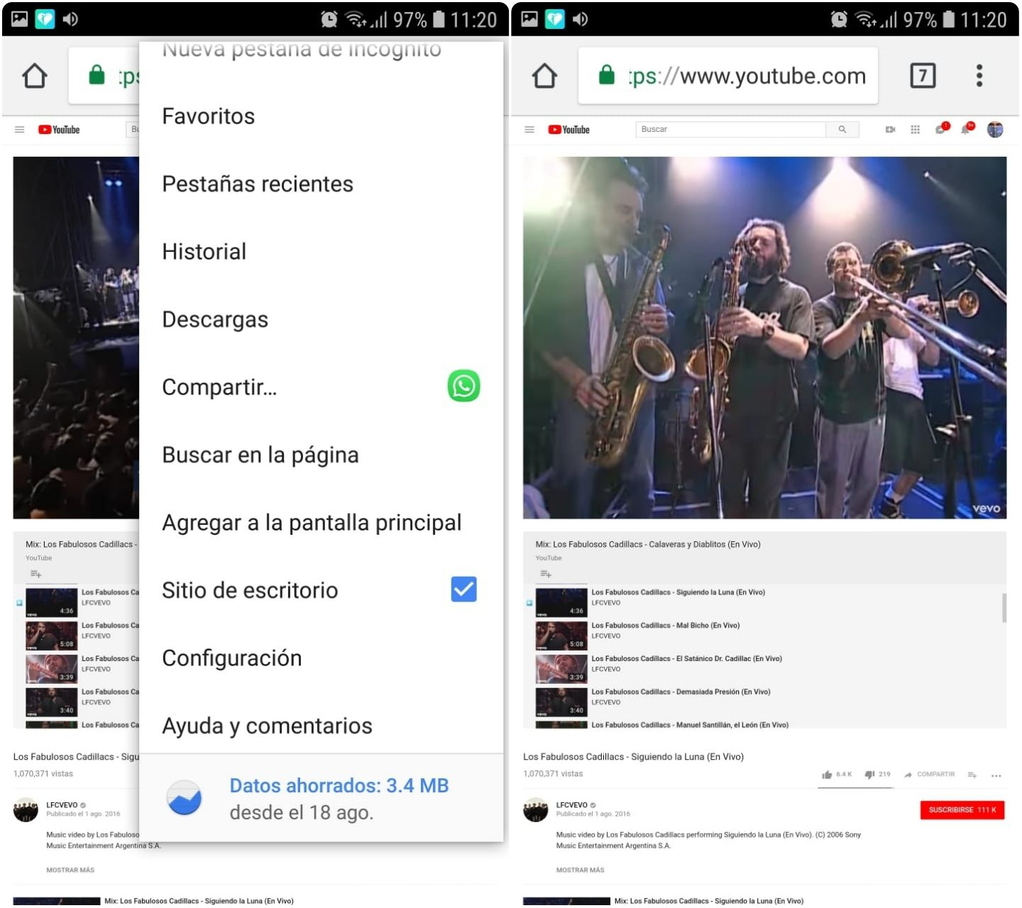 Escuchar videos de YouTube pantala bloqueada