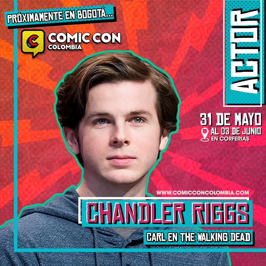 Chandler Riggs, Carl Grimes en The Walking Dead, estará en la Comic Con Colombia.