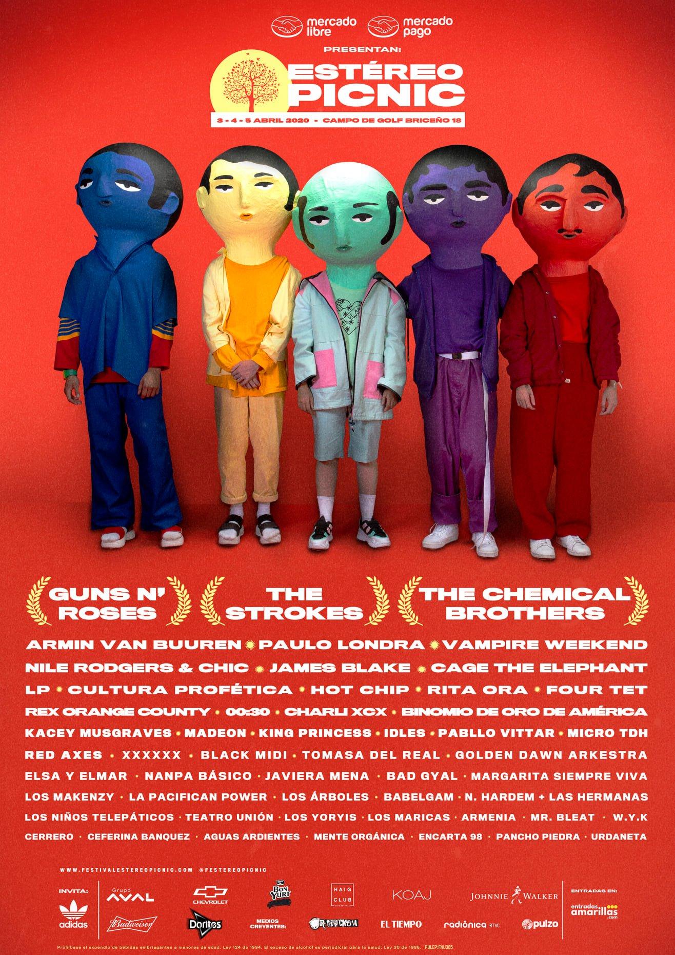 Festival Estéreo Picnic 2020 line up