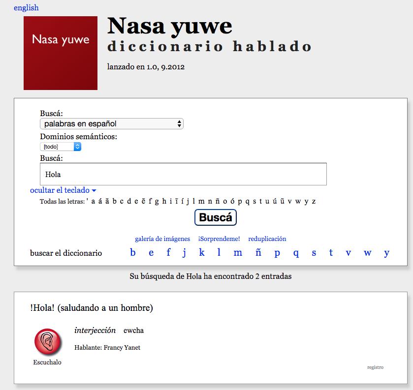 diccionario de lenguas indígenas colombianas