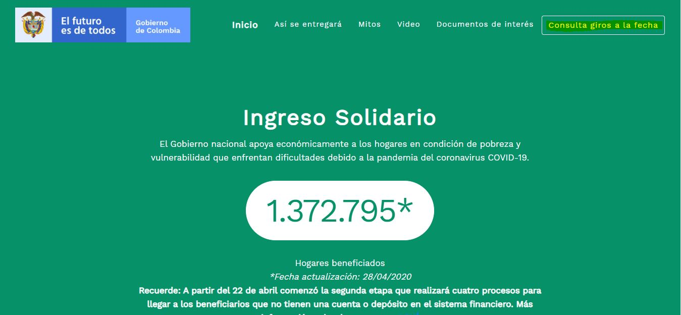 ingreso solidario dnp gov co consulta de beneficiarios